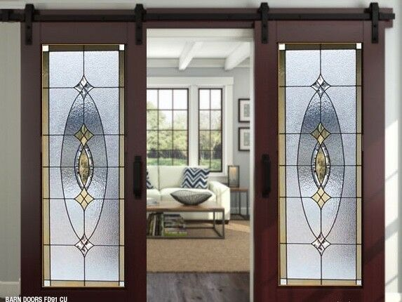 Stained Glass Doors Barn Or Pocket Style Ebay