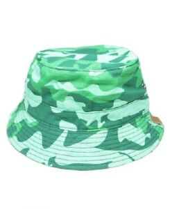 0f36a4359a831 Image is loading Pink-Dolphin-CAMO-BUCKET-Forest-Green-Camo-Discounted-