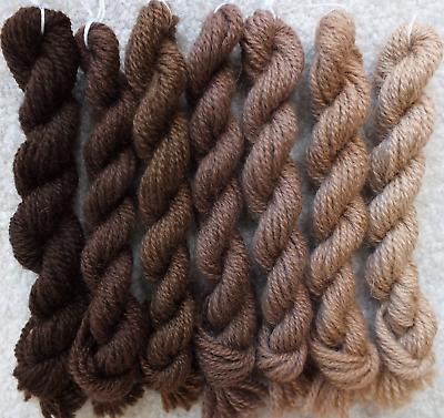 Paternayan Persian Wool 430-436 CHOCOLATE BROWN family - 56 yds total