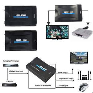 1080P-SCART-a-HDMI-Scaler-Convertitore-adattatore-video-audio-per-STB-DVD-Cavo-USB
