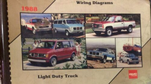 1988 GMC TRUCK Light Duty Truck Electrical Wiring Diagrams Service Shop Manual