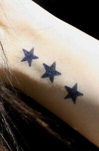 New Temporary Tattoo Star Kit Black Jagua Henna 8 Designs