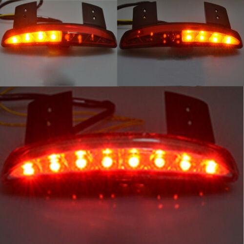 Red Chopped Fender Edge LED Turn Signal Tail Light For Harley Sportster 883 1200