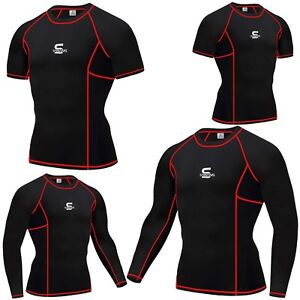 SAWANS-Mens-Compression-Armour-Base-Layer-Top-Sleeve-Thermal-Gym-Sports-Skin-Fit
