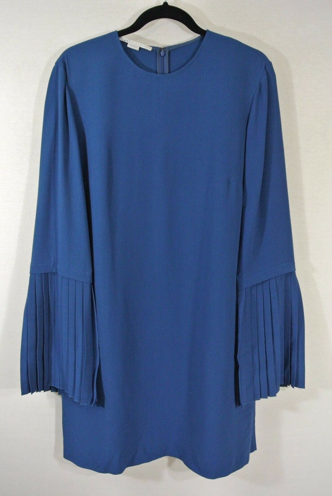 NEW Stella McCartney Plissé Bell Sleeve Sleeve Sleeve Dress- Size 46 US 12  1,645 d1c1b4