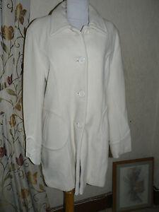 Ladies-Cream-Coat-Wool-Cashmere-Blend-Size-16