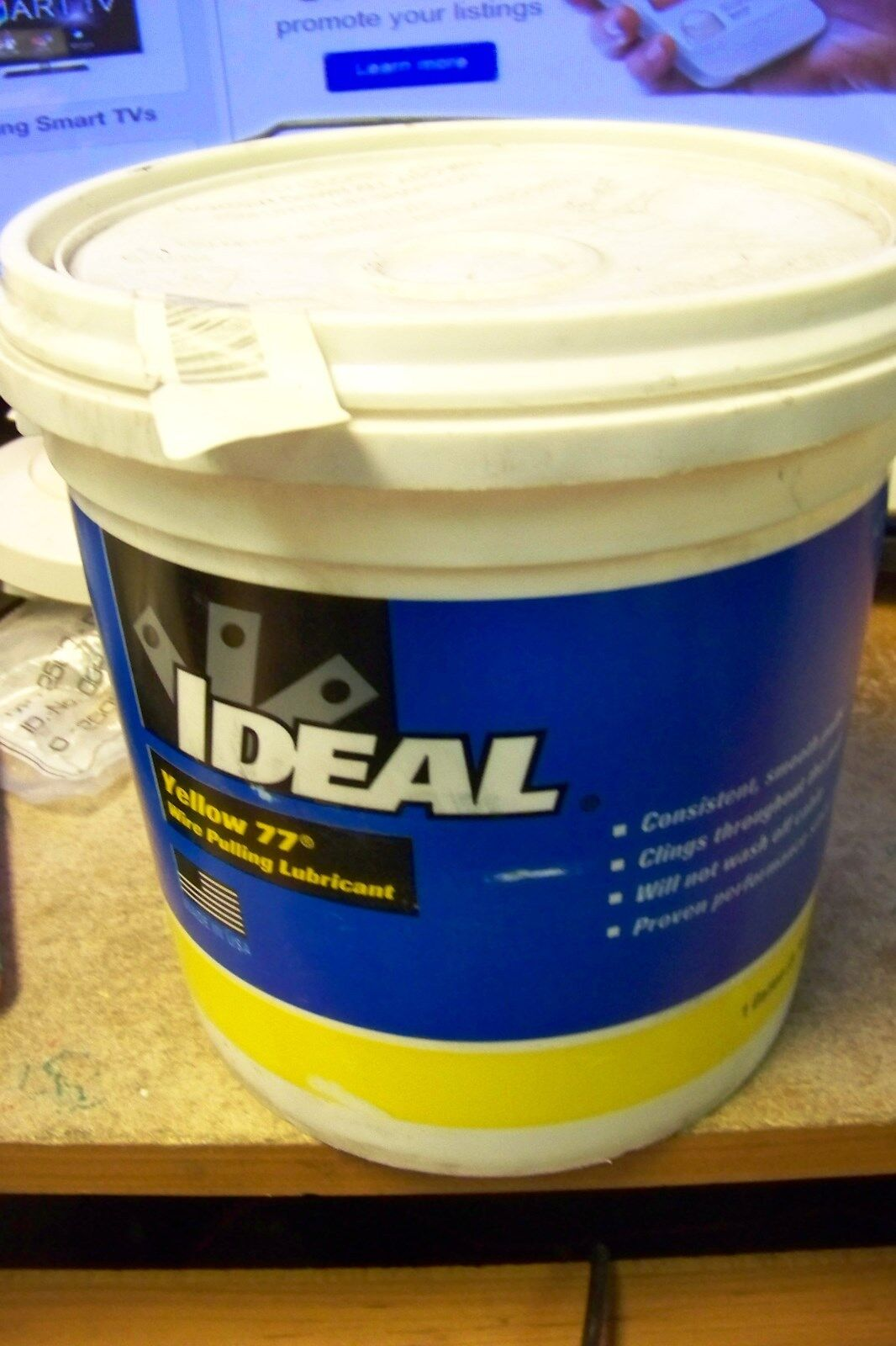 new Ideal 31-351 Yellow 77 Non-Flammable Wire Pulling Lubricant; 1 ...