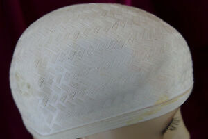 Ensoleillé Vintage Caoutchouc Bonnet De Bain * Blanc *-afficher Le Titre D'origine Avec Le Meilleur Service