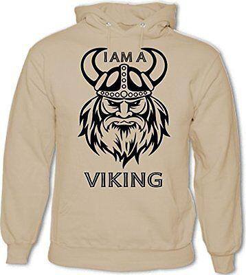 Viking Skull Shield Mens Funny Hoodie Ragnar TV Show Programme Skull Axe