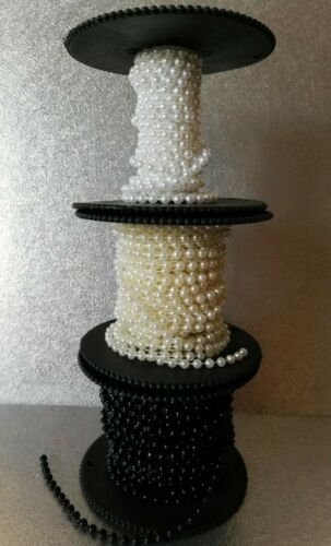 2 Mt x 4 mm String of Beads Beaded Pearls Sewing Cakes Cards /& Craft ***Choose**