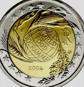 Italy Coin 2 Euro 2004 Commemorative Fao World Food Programme New Unc From Roll Ebay