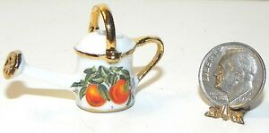Dollhouse Miniature Watering Can Garden Reutter Porcelain Minis 1:12