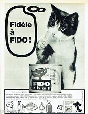 PUBLICITE ADVERTISING 016  1965  FIDO  CHAT    la patée en nb