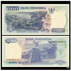 Indonesia-1000-Rupiah-1992-2pcs-Running-Number-UNC-1000-1992