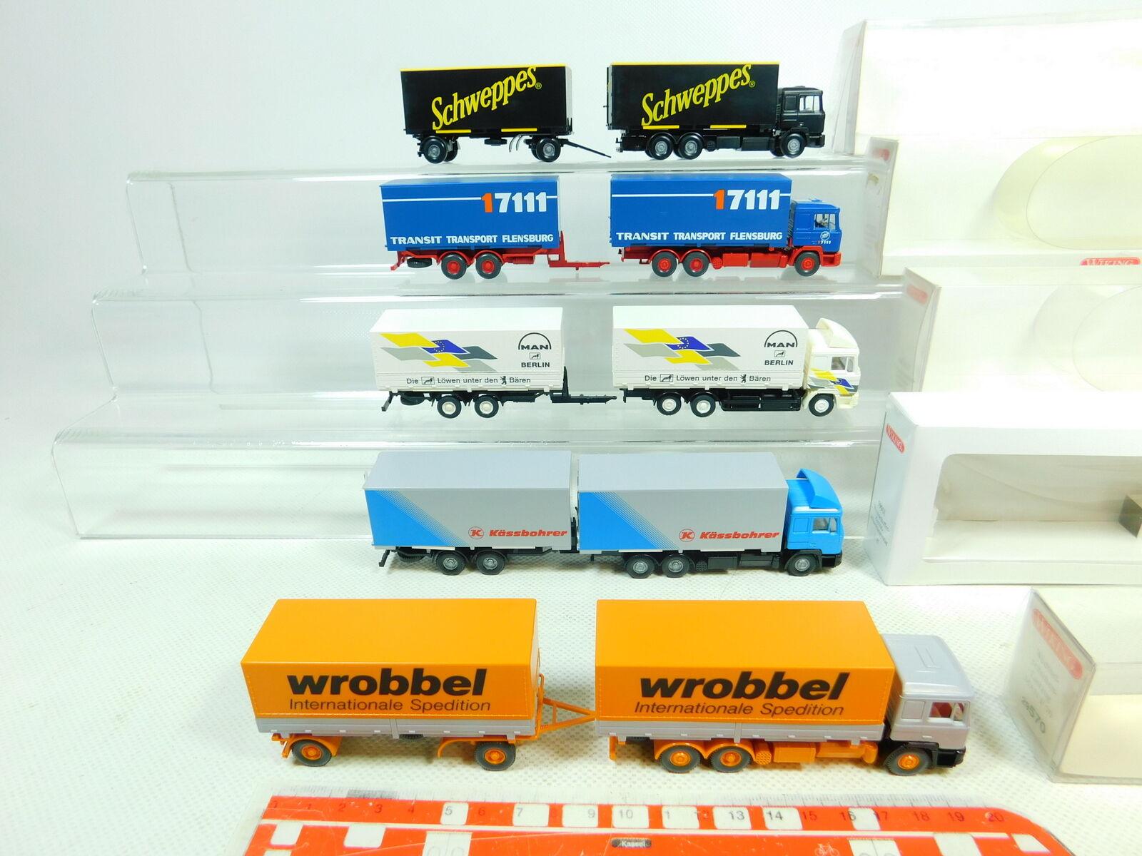BT332-0,5   5 X X X Wiking H0   1 87 Camión Man  599+573 Schweppes +570 +598 ,Muy 8bec13