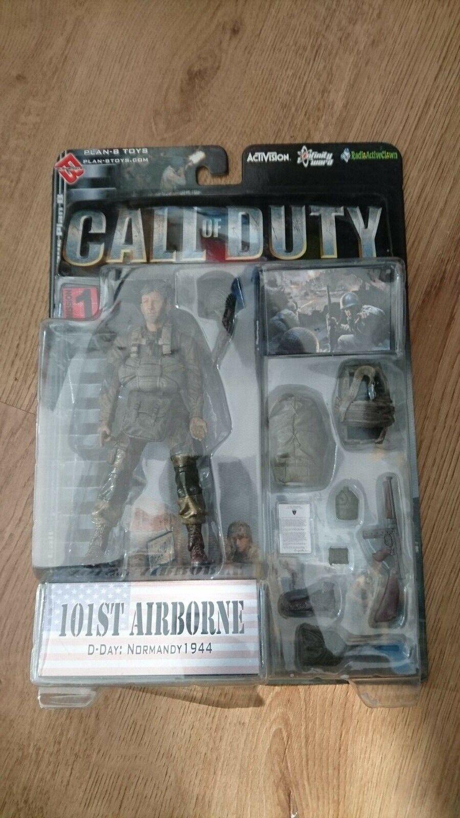Call of Duty la Segunda Guerra Mundial American 101st Airborne Plan-b Figura de Acción Juguetes-a Estrenar