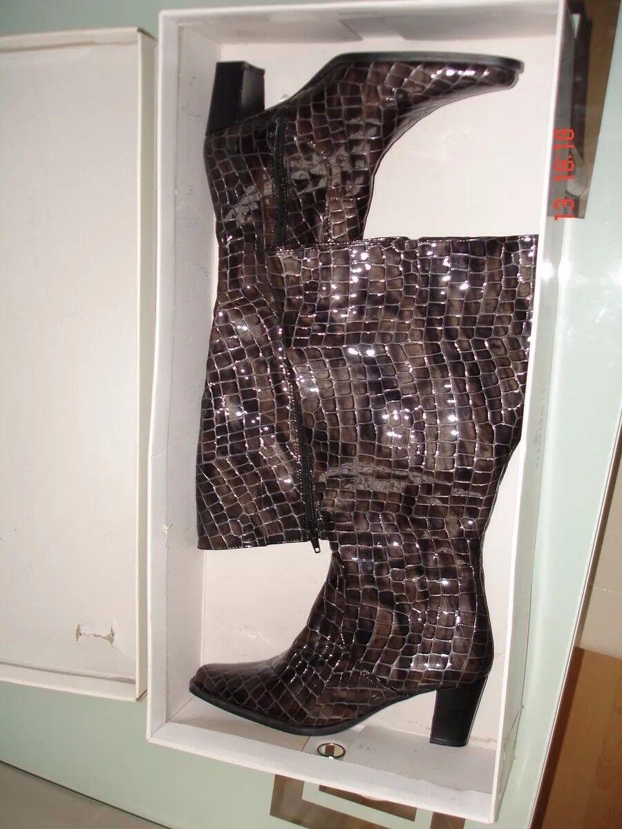 BIADELLI  Cinza 41cm.Leder Weitschaftstiefel Gr37 Made in italy.399euro60%spa