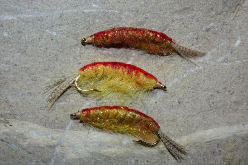 TANGLÄUFER # 8 Fliegenfischen Meerforelle Saibling Lachsforelle Forelle 3 St