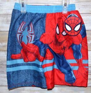 80bf45f615 NWT Boys Spiderman Red Blue Boardshorts Swim Trunks Shorts Swimwear ...