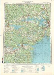 Russian Soviet Military Topographic Maps NORRKOPING Sweden1500