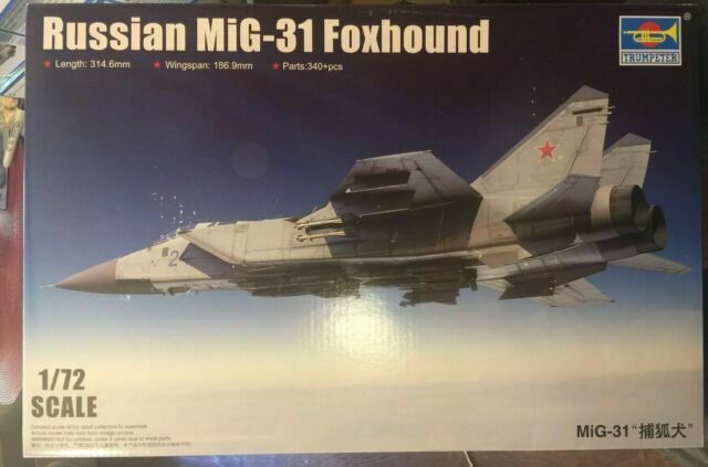 TRUMPETER 01679 1//72 Russian MiG-31 Foxhound*