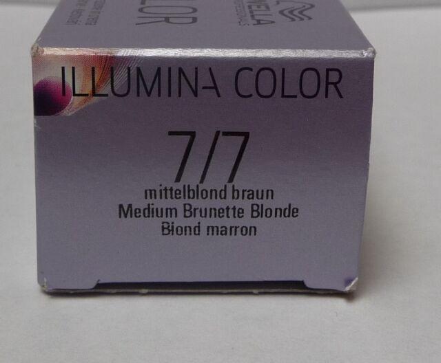 Wella illumina color 60ml 7 7 mittelblond braun ebay