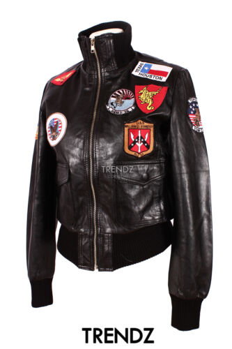 et de d'agneau style cuir aviateur top designer Veste véritable cuir en en noir avec qF77w4d