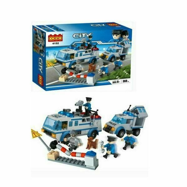 CITY POLICE VANS 368 PCS BUILDING BLOCKS