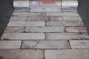 Papier Peint Non-Tissé 446302 Rasch Usine Pierre Mur Gris Beige ...