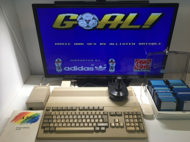Commodore Amiga 500 i god stand, spillekonsol, Commodore…