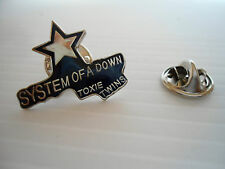 "SPILLA/PIN ROCK-METAL-BIKER  "" SYSTEM OF A DOWN TOXIE TWINS/LOGO "" (RP 077)"