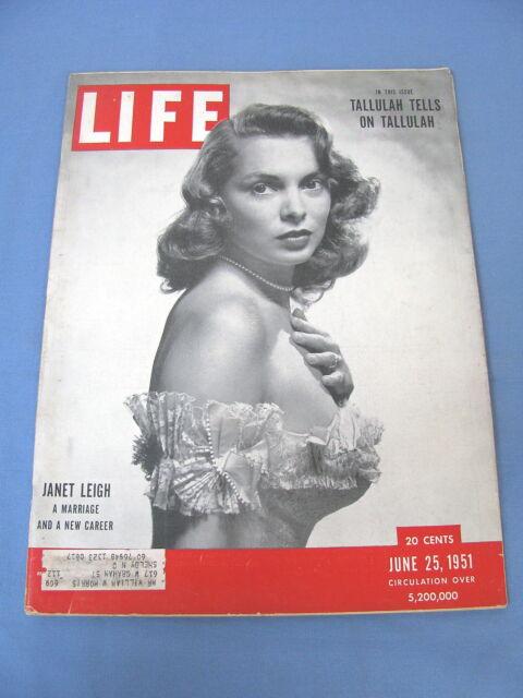 LIFE MAGAZINE JUNE 25 1951 JANET LEIGH TALLULAH BANKHEAD NICE!!