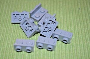 (8) 1x2 - 1x2 - Light Gray Upward 90 Degree Direction Change Bricks  ~ New Lego