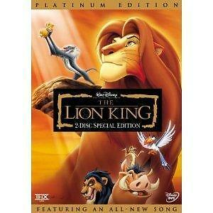 1 of 1 - The Lion King (DVD, 2003, 2-Disc Set, Platinum Edition; Features an All-New...