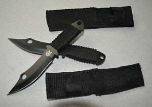 2X-Brand-New-Small-Sharp-Carbon-Steel-Throwing-Knife-with-Cover