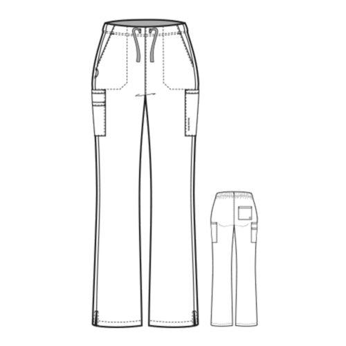 Wonderwink Scrubs Set Pro 4 Tasca Maglia Scollo A V /& Zampa Gamba Cargo