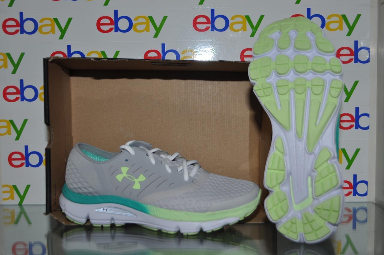 Under Armour SpeedForm Intake 1301797 941 Femme Running Chaussures Gris/Vert NIB