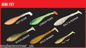 Fox Rage Fish Snax Mini fry loaded softbaits 7cm 5g mixed pack of 4 lures c//o Reelfishing