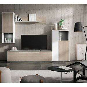 Mueble de comedor, salon vitrina moderno 4 modulos color Blanco y ...