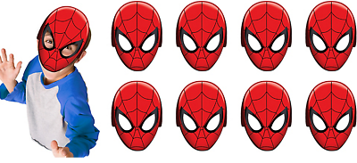 Spider Man Webbed Wonder Paper Masks Boys Birthday Party Supplies Favors ~ 8ct