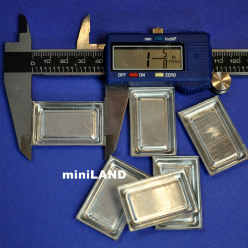 6pcs miniature metal trays Dollhouse 1:12 scale cookies  Kitchen bakery tray