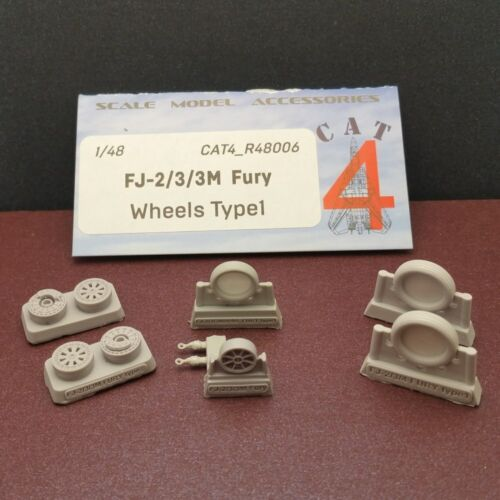 CAT4 R48006 North American FJ-2//3//3M Fury Wheels Type 1 1//48 scale resin set