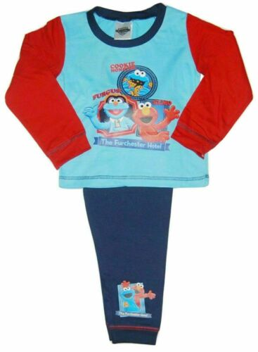 BOYS SESAME STREET THE FURCHESTER HOTEL PYJAMAS AGES 18-24 months to 4-5 years