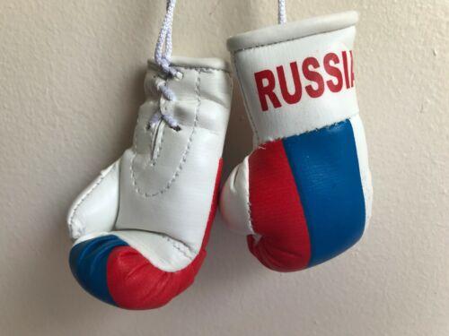 RUSSIA Flag Mini Boxing Gloves for Car Truck Bus Jeep SUV RV Decor Rear-View Mir
