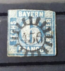 Bayern-6-Kreuzer-blau-Mi-Nr-10-gMR-456-034-Schesslitz-Oberfranken