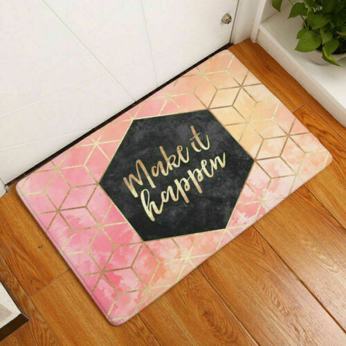 3D Letters Geometric Carpets Funny Diomand Welcome Home Door Floor Hallway