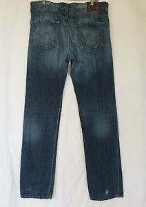 Citizens-of-Humanity-Men-039-s-Blue-Sid-Straight-Fit-Jeans-34-X-35