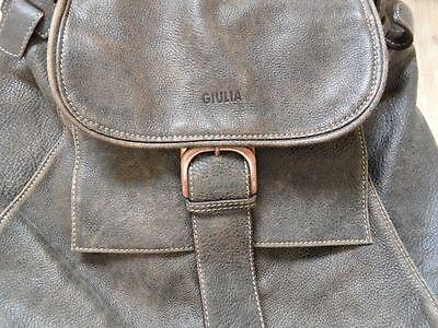 GIULIA tolle Handtasche Retro Vintage Stil braun iele Fächer TOP 817