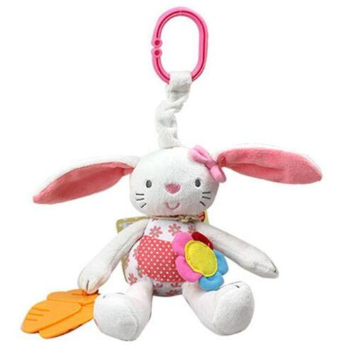 Baby Toy Bed Hanging Plush Bell Rabbit Soft Stroller Crib Animal Rattle Infant S