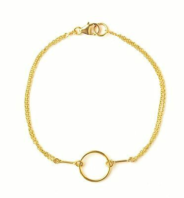 Dogeared Gold Karma Positive Circle Charm Bracelet SALE!